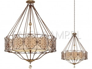 Marcella 4 Light Chandelier – 870x520x1525mm – Lampa Wisząca