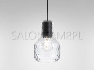 Modern Glass Barrel E27 Romb – 158x241x1900mm – Lampa Wisząca