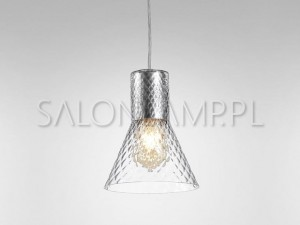 Modern Glass Flared E27 Romb – 166x205x1900mm – Lampa Wisząca